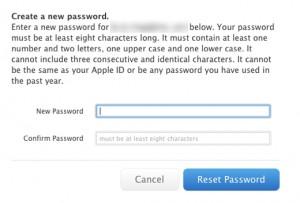 passwordreset apple