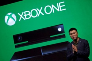 Xie, general manager of management and operations of Microsoft in China, speaks during the presentation of the Xbox One by Microsoft as part of ChinaJoy 2014 in Shanghai